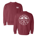 Small - Crimson - South Crew Neck Sweater
