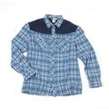 Medium  - Blue Plaid - Soft-Shell Flannel Shirt