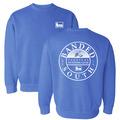Large - Flo Blue - South Crew Neck Sweater