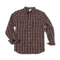 XL  - Brown Plaid - Button Down Flannel Shirt