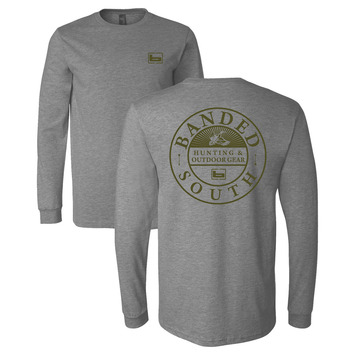 Large - Gray - Banded South L/S Tee picture