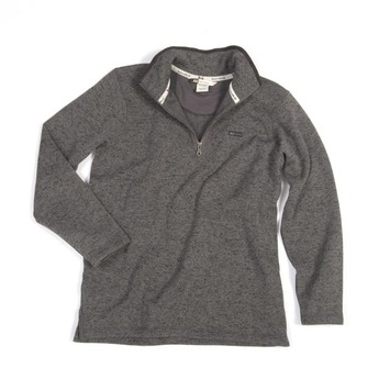 XL  - Charcoal - Fleece 1/4 Zip Pullover Sweater picture