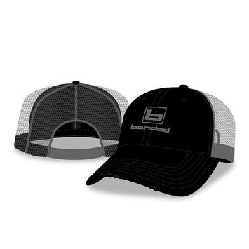 BANDED Trucker Cap-Black/Gray Mesh w/ b Logo picture