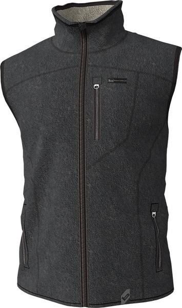 Large  - Charcoal - Polar Fleece Vest picture