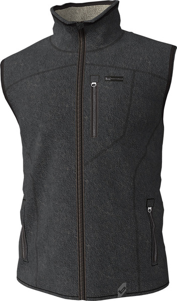 Large  - Charcoal - Polar Fleece Vest picture