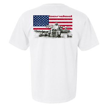 Large - White - Banded American S/S Tee picture