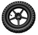Extra drive wheel (rim, tire, and tube) for Jeep Jr.