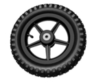 Extra wheel, tire, and tube for Jeep Jr.