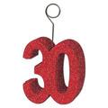 """Glittered """"30"""" Photo/Balloon Holder"""
