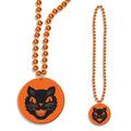 Beads w/Cat Medallion
