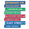 Retirement Street Sign Cutouts