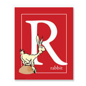 R - RABBIT, red