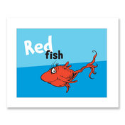 RED FISH, blue