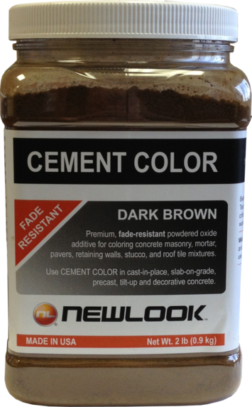 2 lb. Dark Brown Fade Resistant Cement Color picture