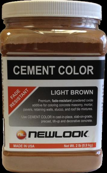 2 lb. Light Brown Fade Resistant Cement Color picture