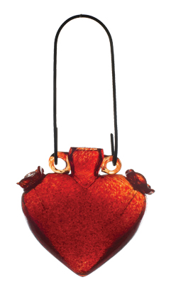 Heart Hummingbird Feeder - Red picture