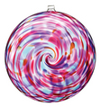 Hanging Spiral Sun Disc - Berry