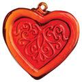 Red Pattern Heart Jewel Suncatcher