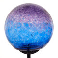 Bubbles Glass Solar Light-Purple/ Blue