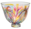 Small Glass Bowl Feather - Festive Multi