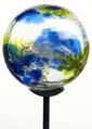 Webbed Glass Solar Light- Multi Blue