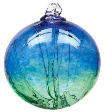 """6"""" Olde English Witch Balls- Cobalt/ Green picture"""