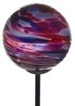 Calico Glass Solar Light- Berry