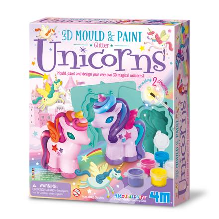 3D Mould & Paint Unicorns picture