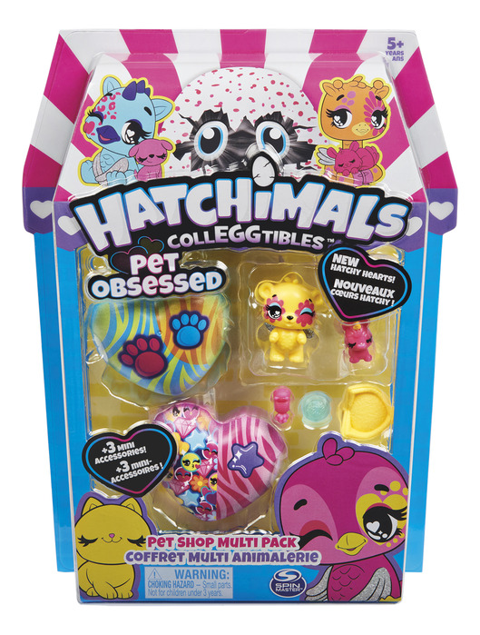 Pet Shop Multi Pack New Hatchy Hearts! HATCHIMALS COLLEGGTIBLES Pet Obsessed