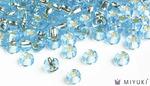 Miyuki 6/0 Glass Beads 18 - Silverlined Pale Sky Blue approx. 30 grams