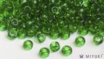 Miyuki 6/0 Glass Beads 146 - Transparent Grass Green approx. 30 grams
