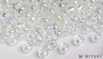 Miyuki 6/0 Glass Beads 250 - Transparent Crystal AB approx. 30 grams