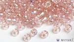 Miyuki 8/0 Glass Beads 292 - Transparent Pale Pink AB approx. 30 grams