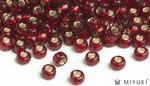 Miyuki 8/0 Glass Beads 11 - Silverlined Ruby approx. 30 grams