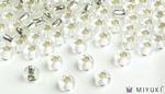 Miyuki 8/0 Glass Beads 1 - Silverlined Crystal approx. 30 grams