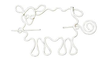 Nirvana Sheep Shawl Pin - White picture