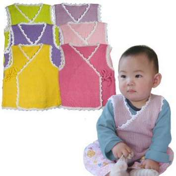 Close-Out! Lovely Baby Vest Project Kit - Cadet Blue picture
