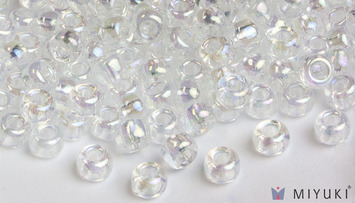 Miyuki 6/0 Glass Beads 250 - Transparent Crystal AB approx. 30 grams picture