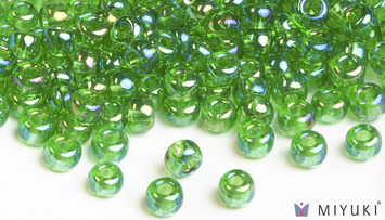 Miyuki 6/0 Glass Beads 179L - Transparent Light Green AB approx. 30 grams picture