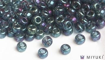 Miyuki 6/0 Glass Beads 314 - Capri Blue Gold Luster approx. 30 grams picture