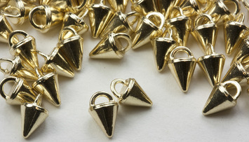3mm Gold Micro Spike Buttons - 100 pk - Crystaletts picture