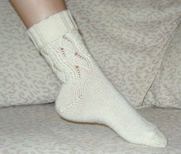 Dove Lace Sock QHSo45 picture