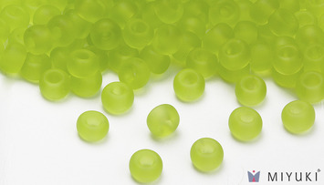 Miyuki 6/0 Glass Beads 143F - Transparent Frost Chartreuse approx. 30 grams picture