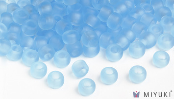 Miyuki 6/0 Glass Beads 148F - Transparent Frost Light Blue approx. 30 grams picture