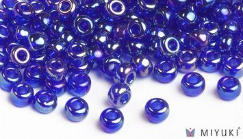 Miyuki 6/0 Glass Beads 177 - Transparent Cobalt AB approx. 30 grams picture