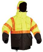 Hi-Vis Deluxe Flotation Jacket with ArcticShield Hood