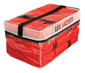 Type II Adult Life Jacket Four Pack w/ Bag
