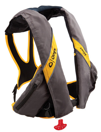 A m 24 deluxe automatic manual inflatable life jacket for Inflatable fishing vest