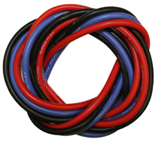 12G Silicone Power Wire Set: 3 feet Black, Red, and Blue picture