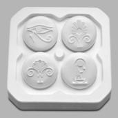 4 Egyptian Symbols Press Tools